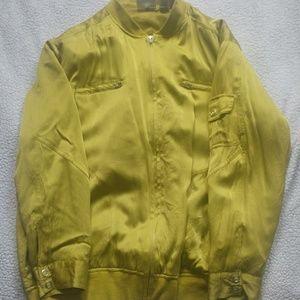 Chico's Silk bomber jacket